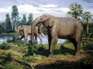 dinosaurios elefantes prehistóricos de la época jurásica