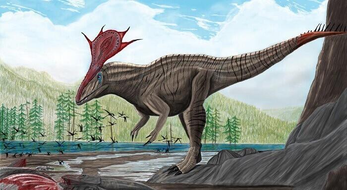 Hábitat natural del Cryolophosaurus