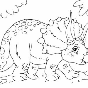 triceratops para imprimir
